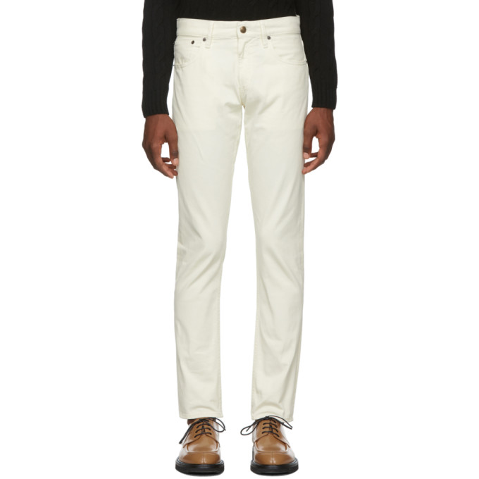 Ralph Lauren Purple Label Off-White Thomson Stretch Jeans