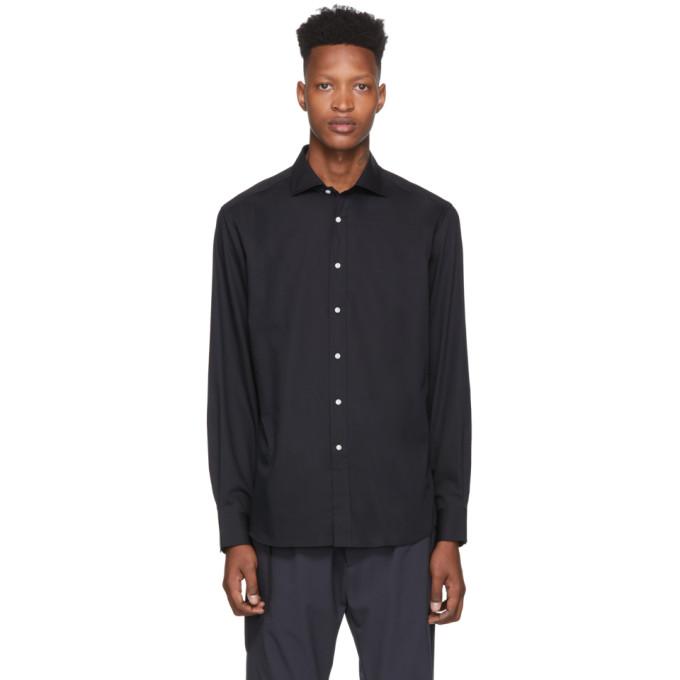Ralph Lauren Dresses RALPH LAUREN PURPLE LABEL BLACK BOND DRESS SHIRT