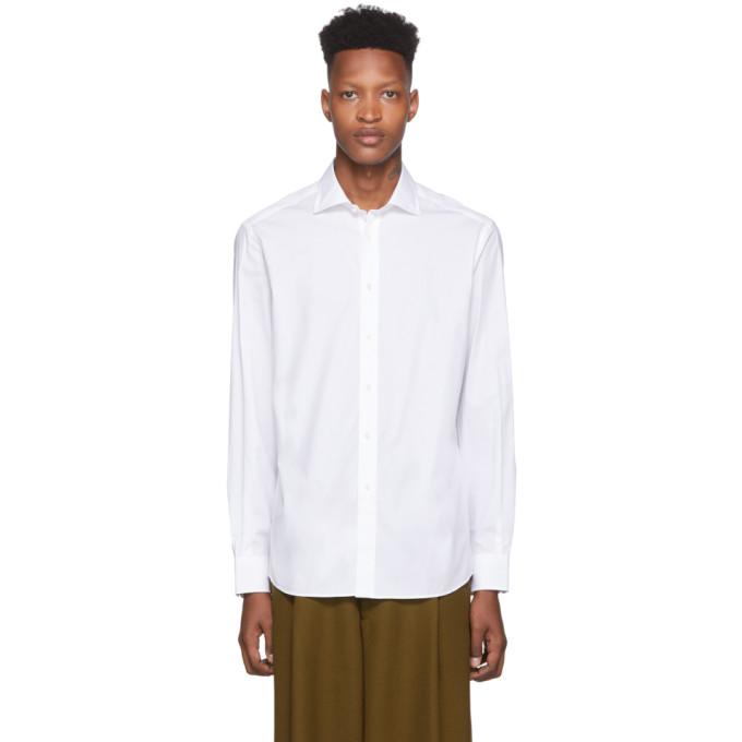 Ralph Lauren Dresses RALPH LAUREN PURPLE LABEL WHITE BOND DRESS SHIRT