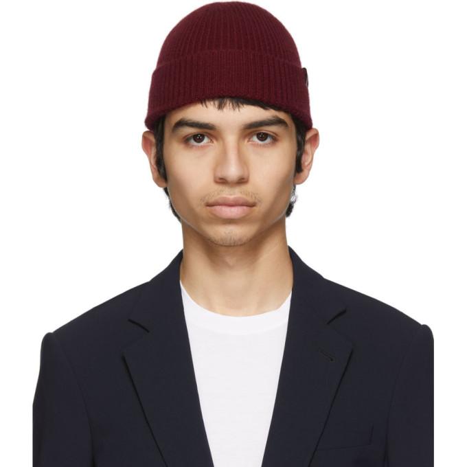 Giorgio Armani Bonnet cotele rouge Full Cardigan