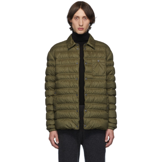 Z Zegna Khaki Down Shirt Jacket