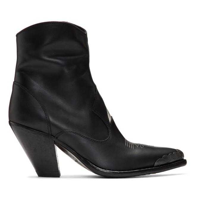 Buy Golden Goose Black Nora Star Boots online