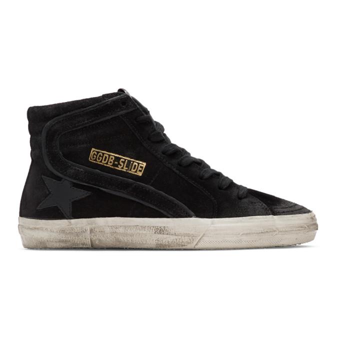 Golden Goose Black Suede Slide Sneakers