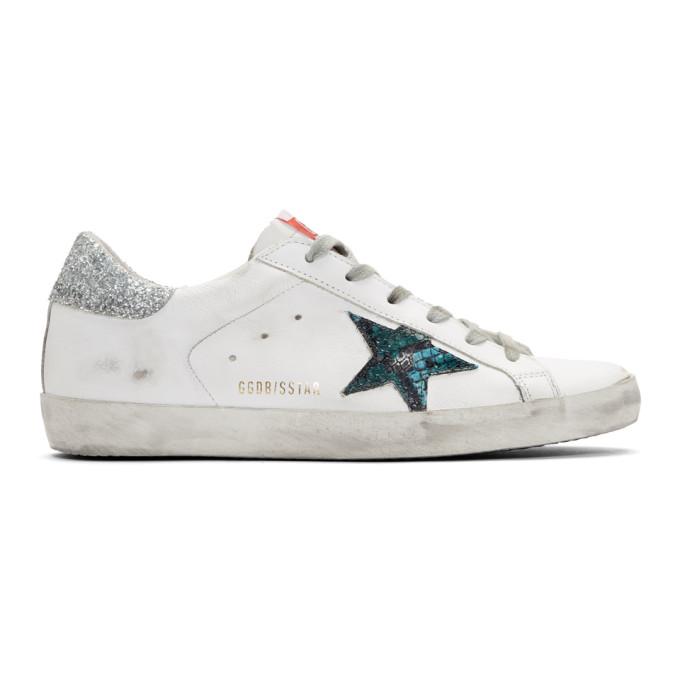 Golden Goose White Snake Superstar Sneakers