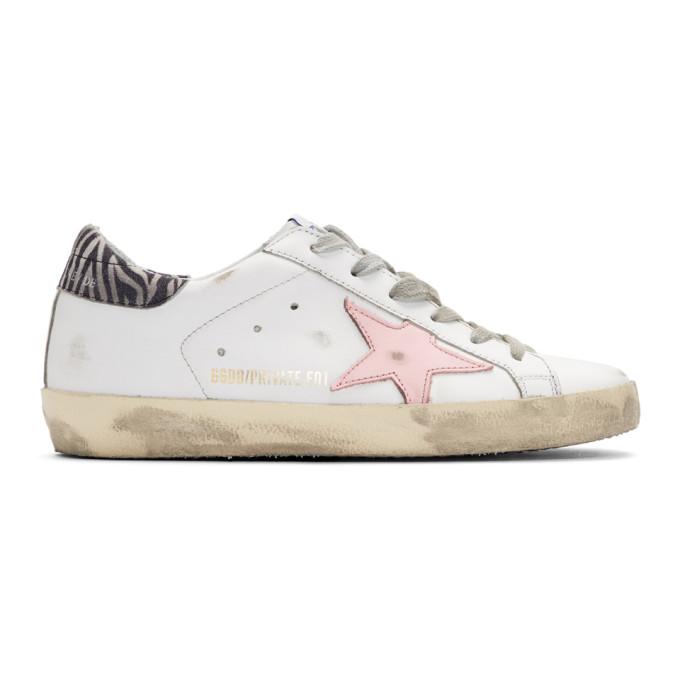 Golden Goose White Zebra Superstar Sneakers
