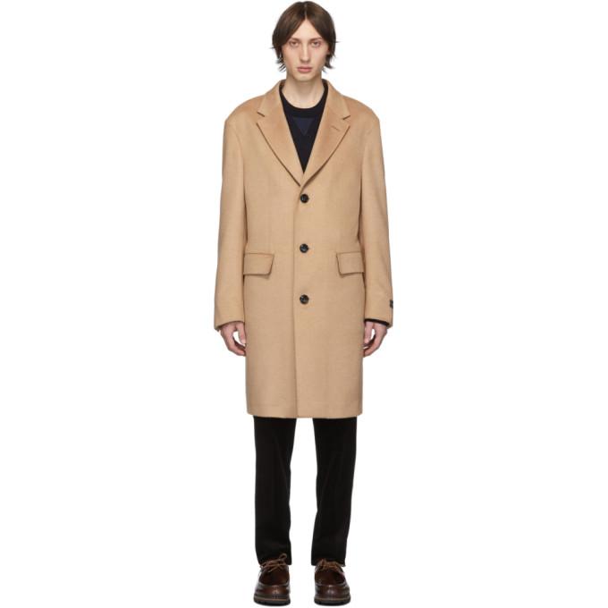 Ermenegildo Zegna Beige Cashmere and Silk Coat