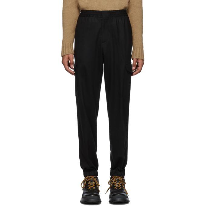 Ermenegildo Zegna Black Wool Cargo Pants