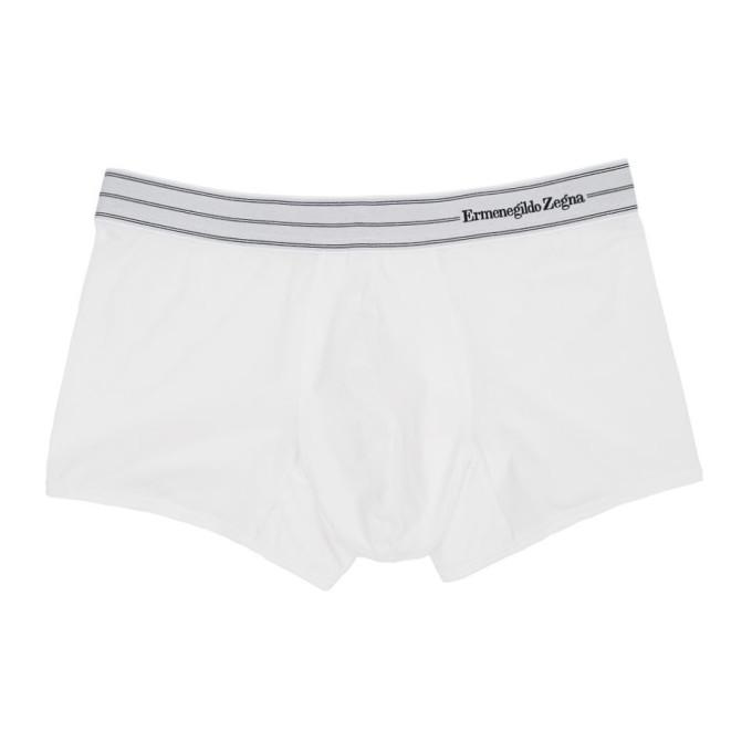 Ermenegildo Zegna Boxer a logo blanc