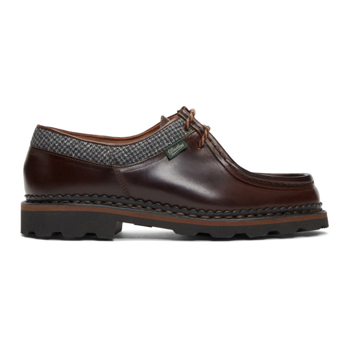Ermenegildo Zegna Brown Paraboot Edition Michael Derbys
