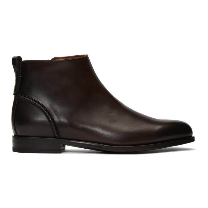 Ermenegildo Zegna Brown Scarpe Boots