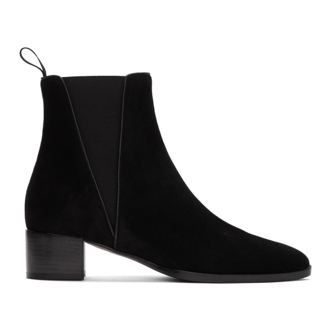 Giuseppe Zanotti Black Suede Kanda Boots