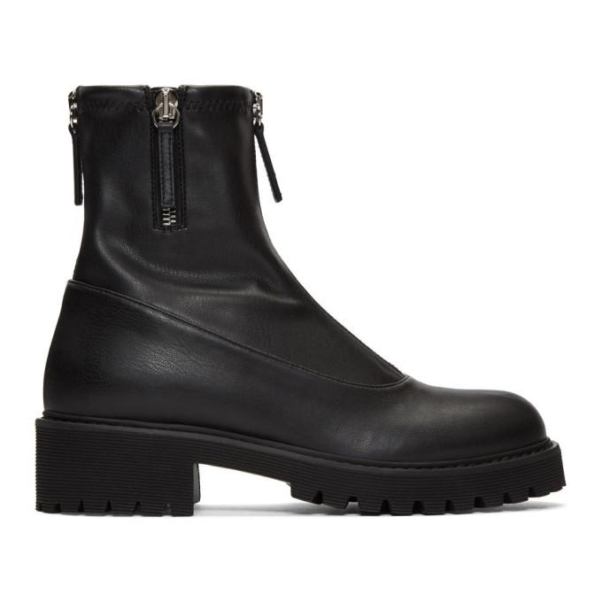 Giuseppe Zanotti Black Zip-Up Combat Boots