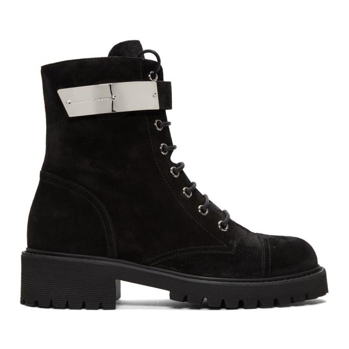 Giuseppe Zanotti Black Suede Alexa Boot