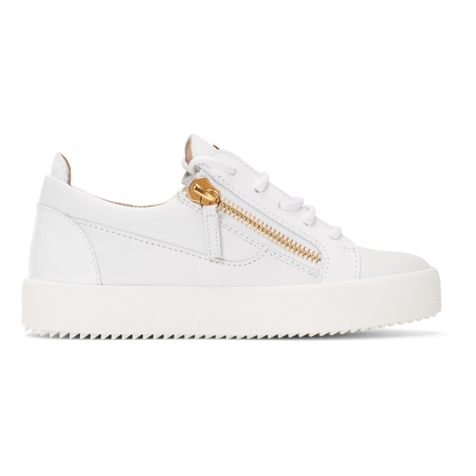 GIUSEPPE ZANOTTI | Giuseppe Zanotti White Gail Sneakers | Goxip