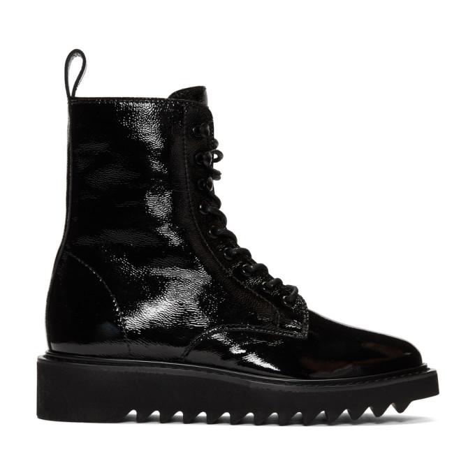 Giuseppe Zanotti Black Rullino Nevada Boots