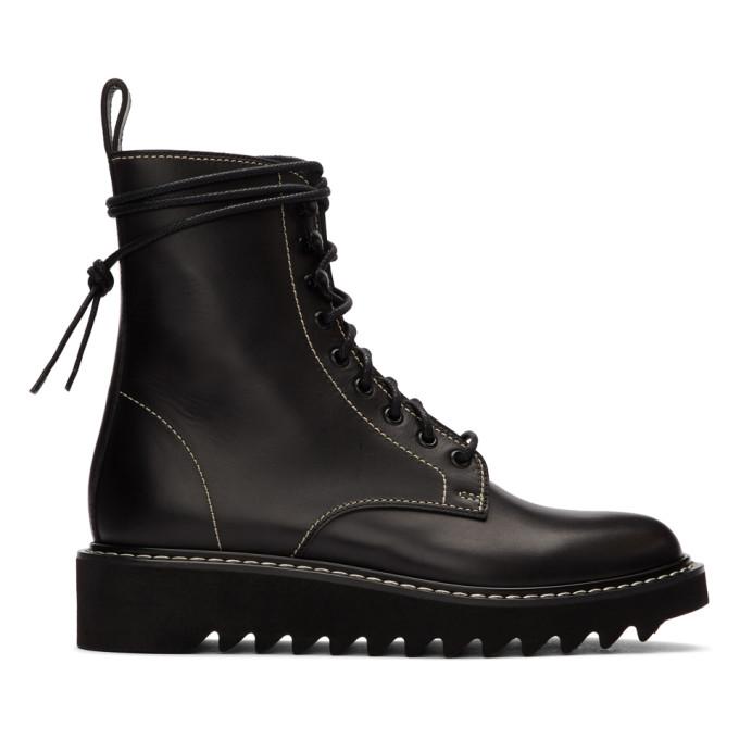 Giuseppe Zanotti Black Lace-Up Boots