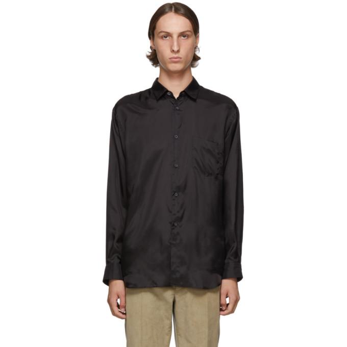 Comme des Garcons Shirt Chemise en taffetas noire