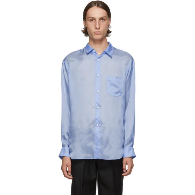 Comme des Garcons Shirt Chemise en taffetas bleue
