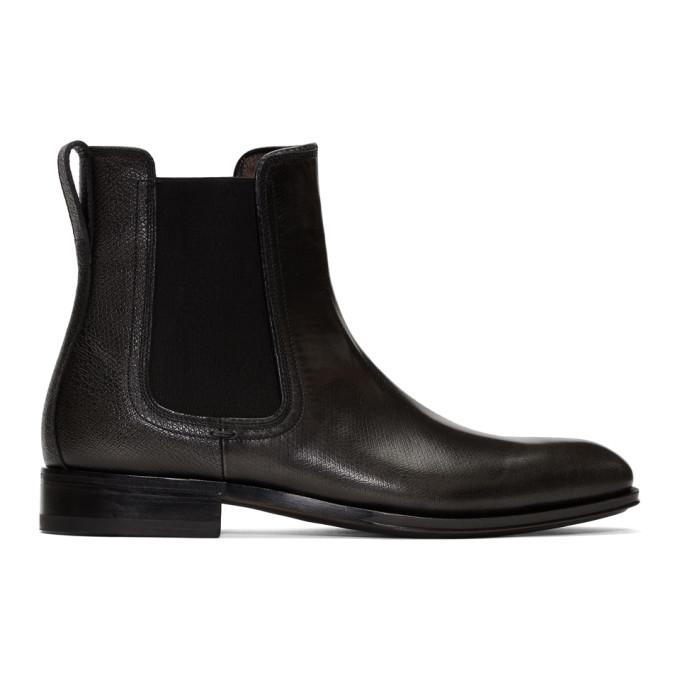 Salvatore Ferragamo Grey Darien Chelsea Boots