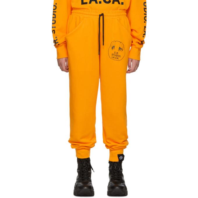 S.R. STUDIO. LA. CA. Pantalon de survetement a cordon coulissant jaune Unlimited Vampire Sunrise
