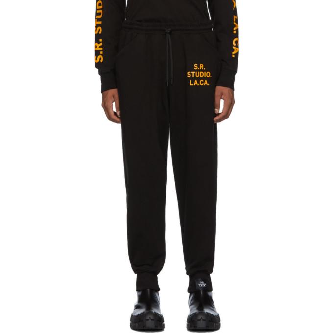 S.R. STUDIO. LA. CA. Pantalon de survetement cordon coulissant noir Unlimited S.R.S. Logo
