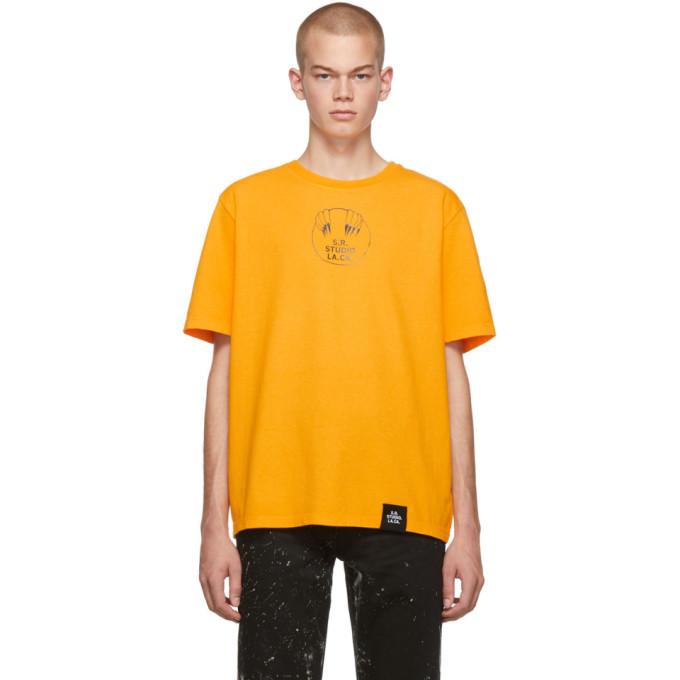S.R. STUDIO. LA. CA. T-shirt jaune Unlimited Vampire Sunrise Basic
