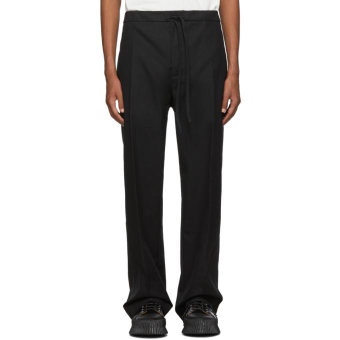 Jil Sanderand Black Wide-Leg Casual Trousers