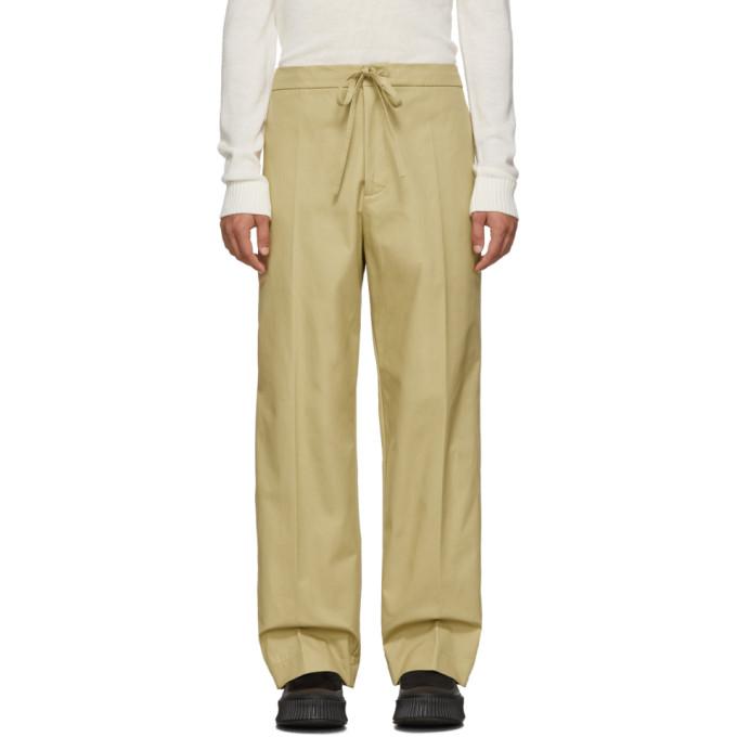 Jil Sanderand Beige Casual Trousers