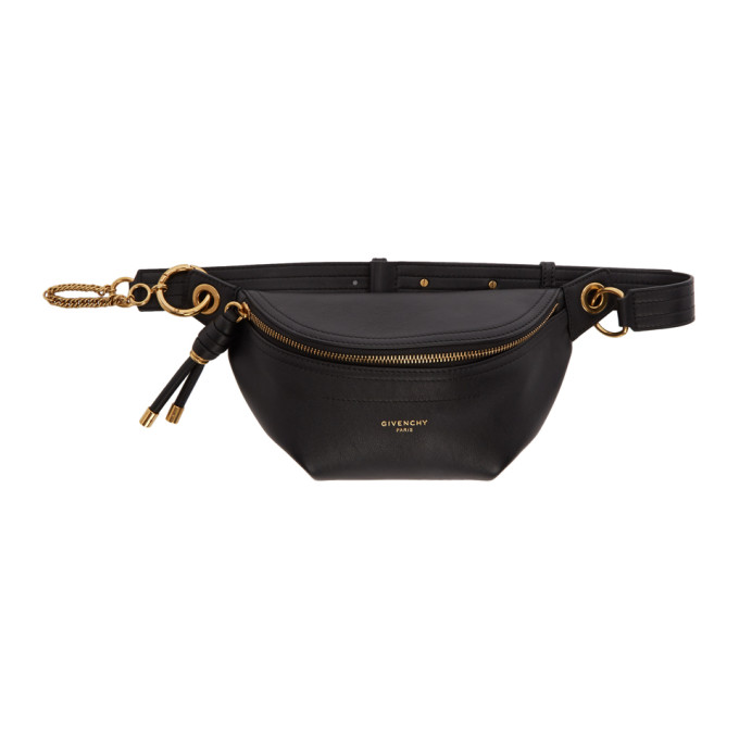 GIVENCHY | Givenchy Black Small Whip Belt Bag | Goxip