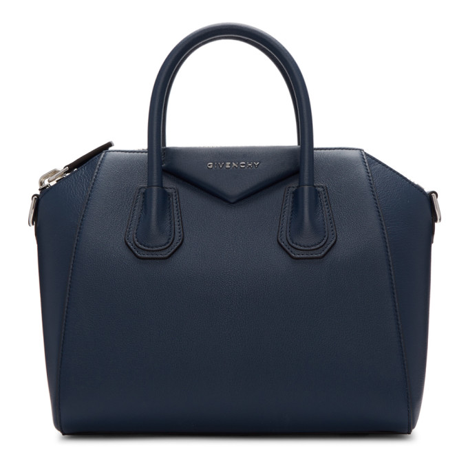 GIVENCHY | Givenchy Blue Small Antigona Bag | Goxip