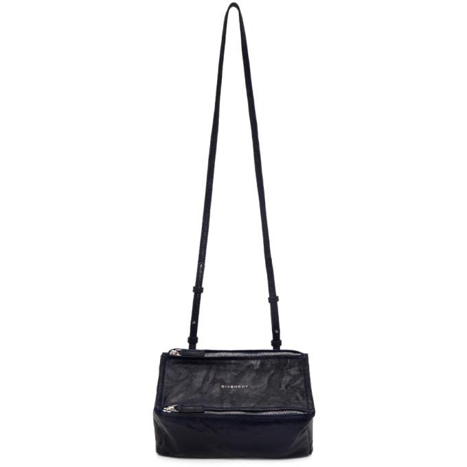 GIVENCHY   Givenchy Navy Mini Pandora Bag   Goxip
