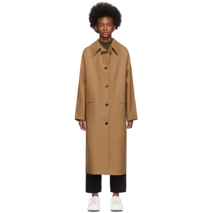 Kassl Editions Manteau en caoutchouc brun clair