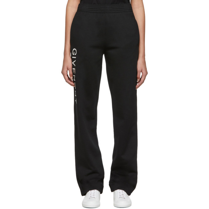 Givenchy Pantalon de survetement noir Vertical Logo Jogger