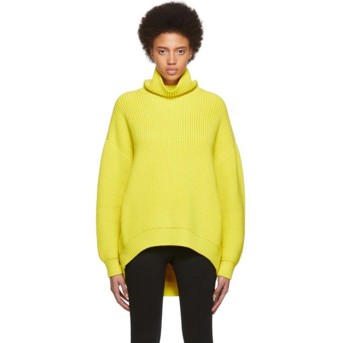 GIVENCHY | Givenchy Yellow Oversized Turtleneck | Goxip