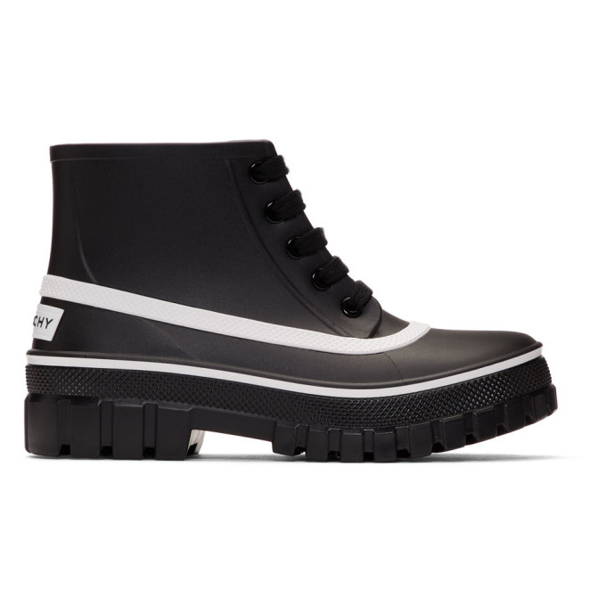 Givenchy Black Rubber Glaston Rain Boots