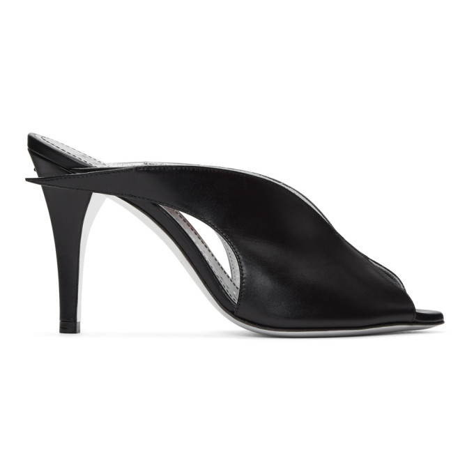 Givenchy Black Heel Mule Sandals