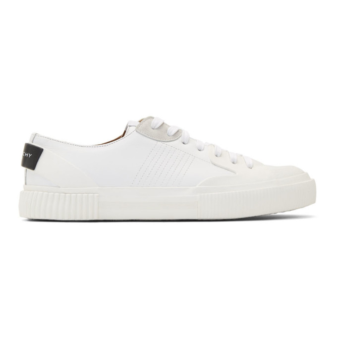 Givenchy White Basket Tennis Light Sneakers