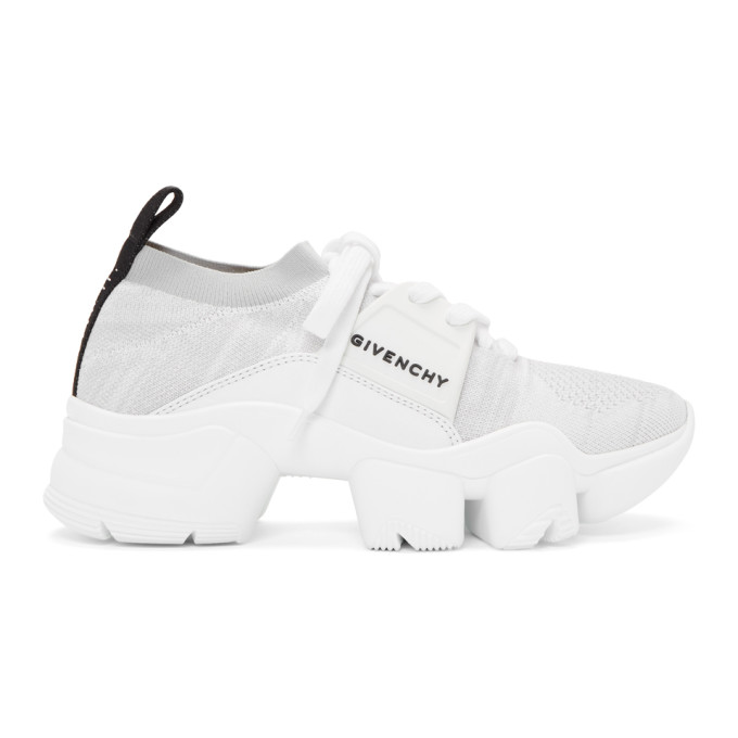 Givenchy White and Grey Jaw Low Sneakers