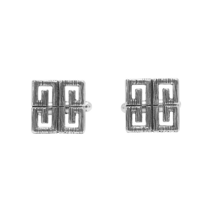 GIVENCHY   Givenchy Silver 4G Cufflinks   Goxip