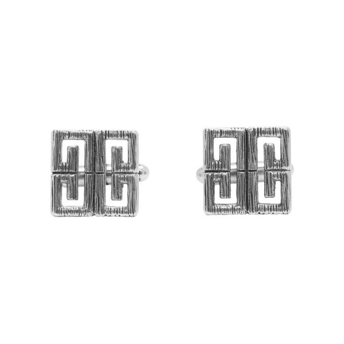 Givenchy Silver 4G Cufflinks
