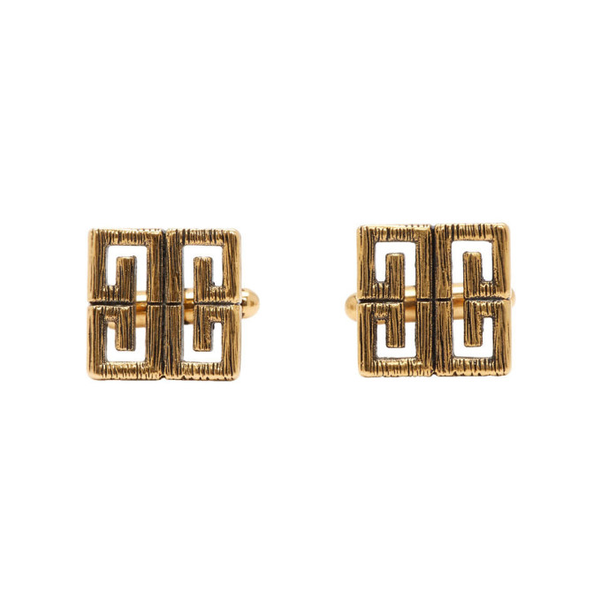 GIVENCHY   Givenchy Gold 4G Cufflinks   Goxip