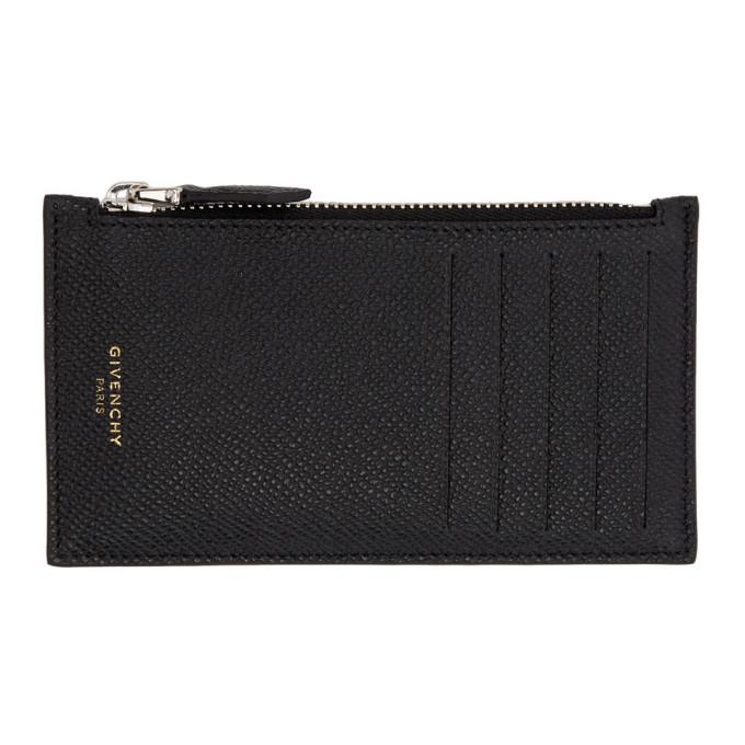 Givenchy ブラック ジッパー カード ホルダー
