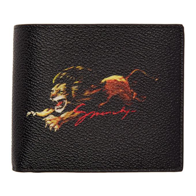 Givenchy ブラック ライオン ロゴ ウォレット