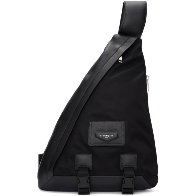 Givenchy ブラック ワン ショルダー エンベロープ バックパック