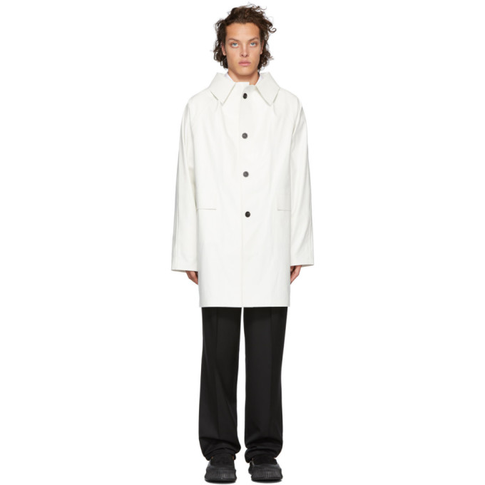 Kassl Editions Manteau blanc Oil Above The Knee
