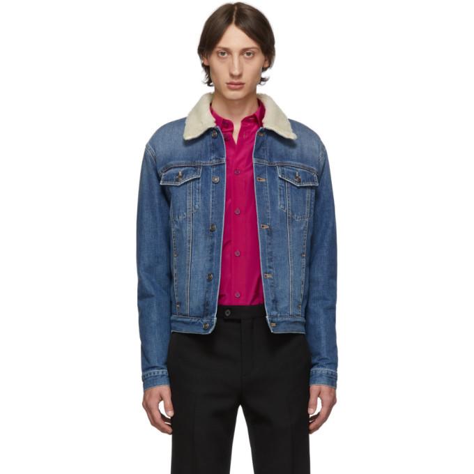 Givenchy ブルー デニム シェルパ ジャケット