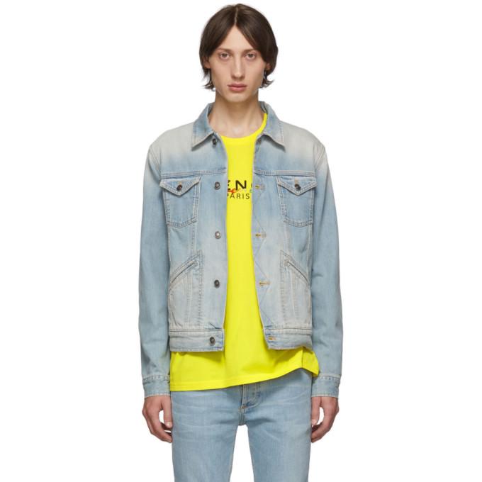 Givenchy ブルー デニム ロゴ ジャケット