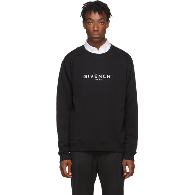 Givenchy Black Reflective Logo Sweatshirt