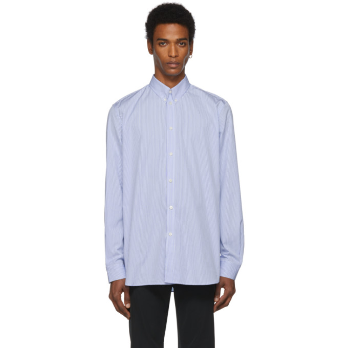 Givenchy Chemise rayee bleue et blanche Atelier Givenchy