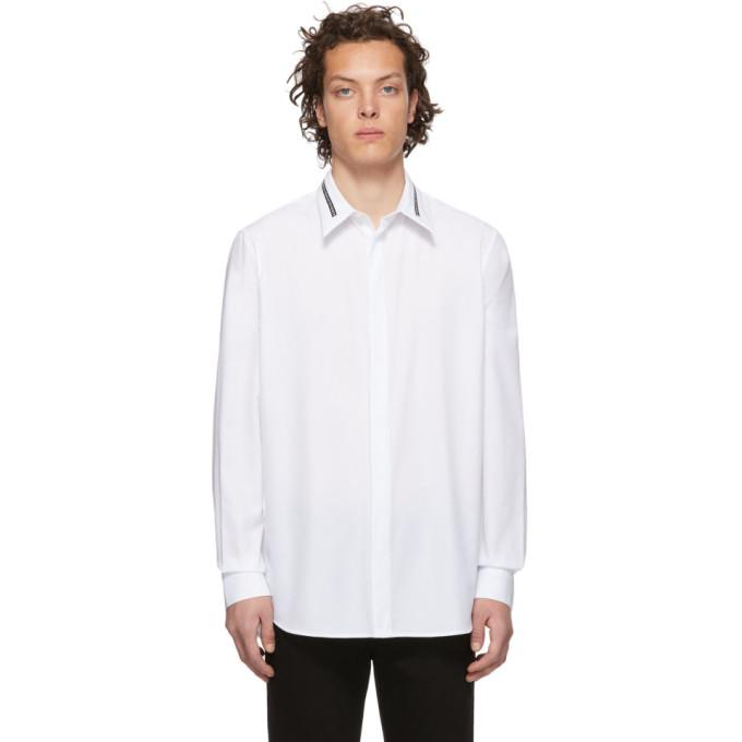 GIVENCHY | Givenchy White Collar Webbing Shirt | Goxip